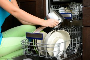 How does dishwasher detergent work